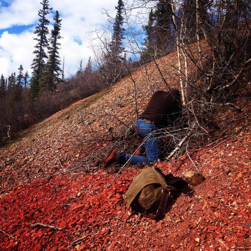 Local Colour Pilgrimage on the Dempster Hwy in the Yukon.