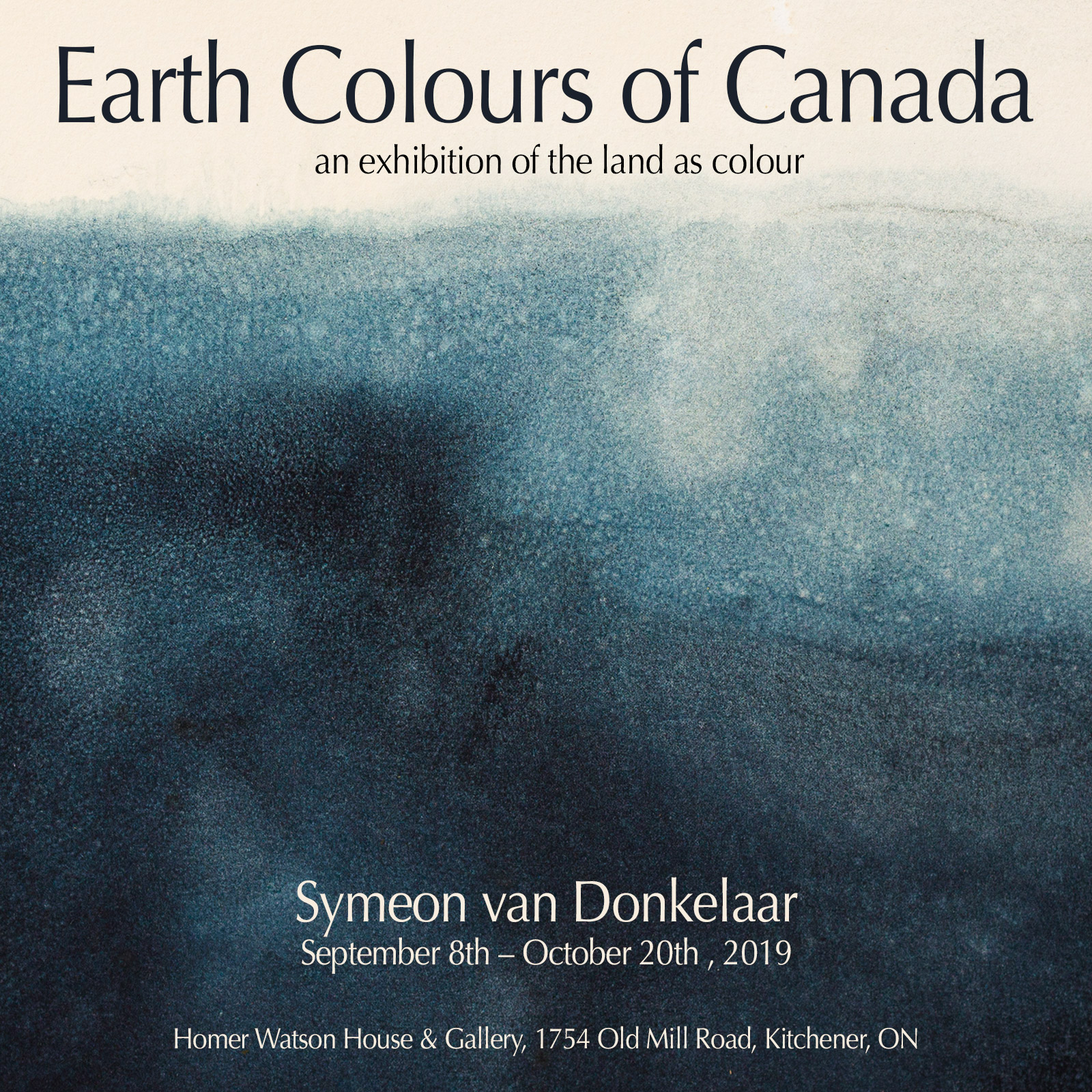 Earth Colours of Canada Exhibition Announcement